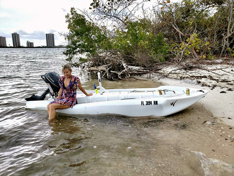S4 skiff in offshore fishing trip, Florida