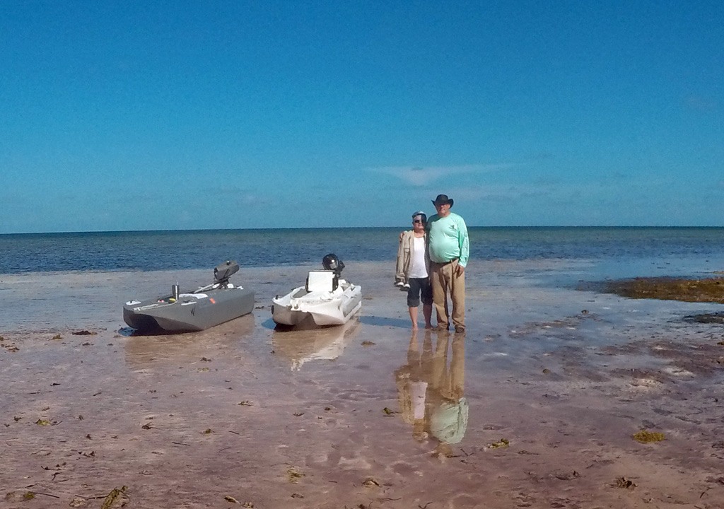 Wavewalk S4 microskiff on ocean beach, Florida