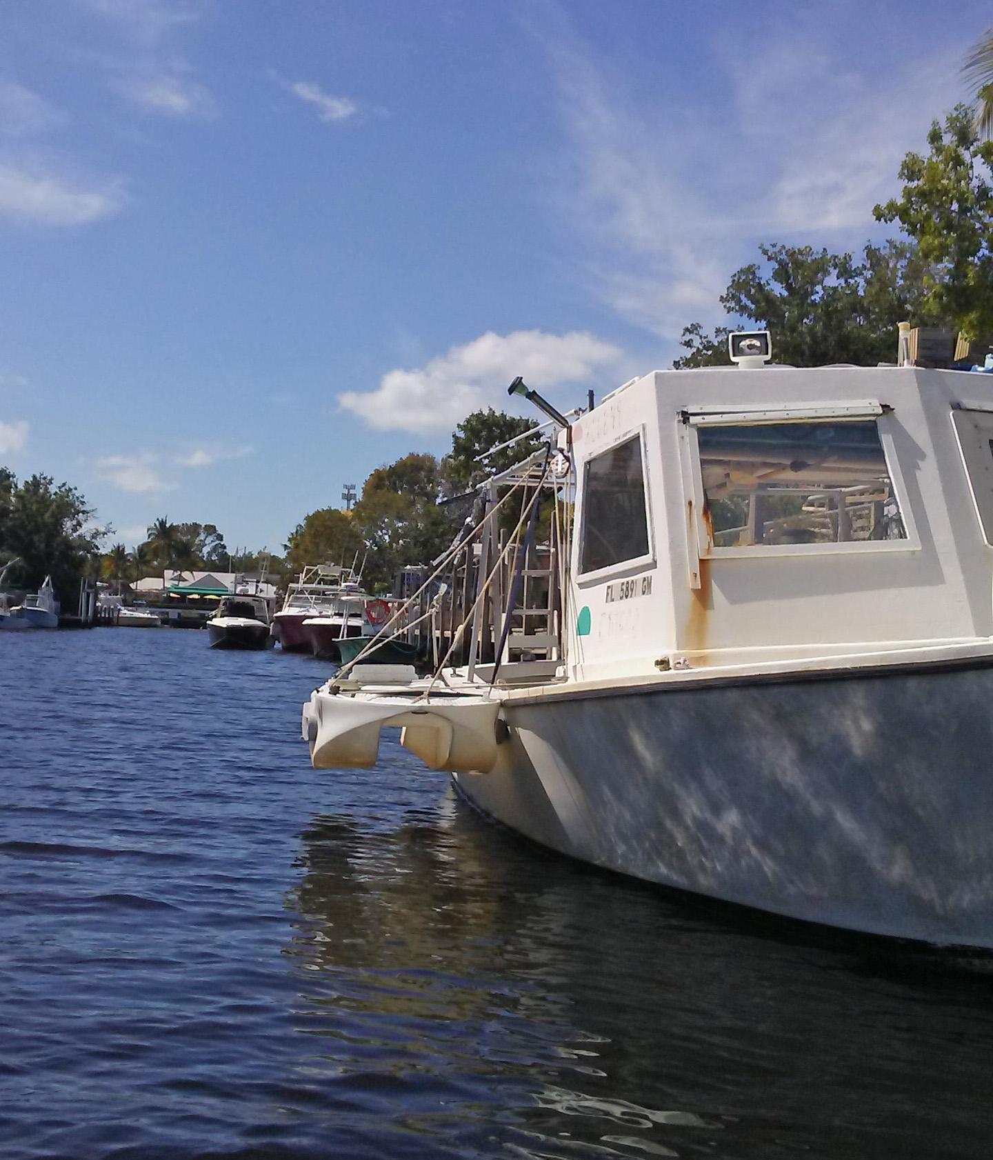 Wavewalk S4 skiff with mother ship, Key Largo
