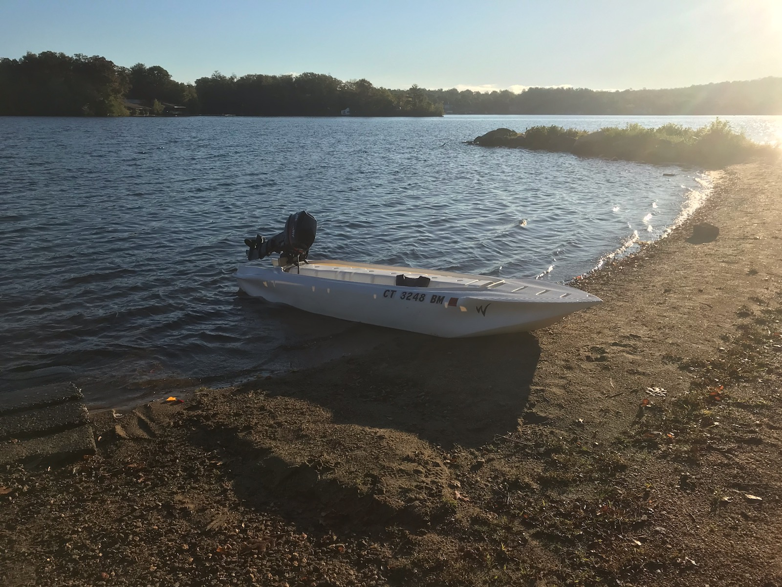 S4 skiff with 10 HP outboard, Connecticut
