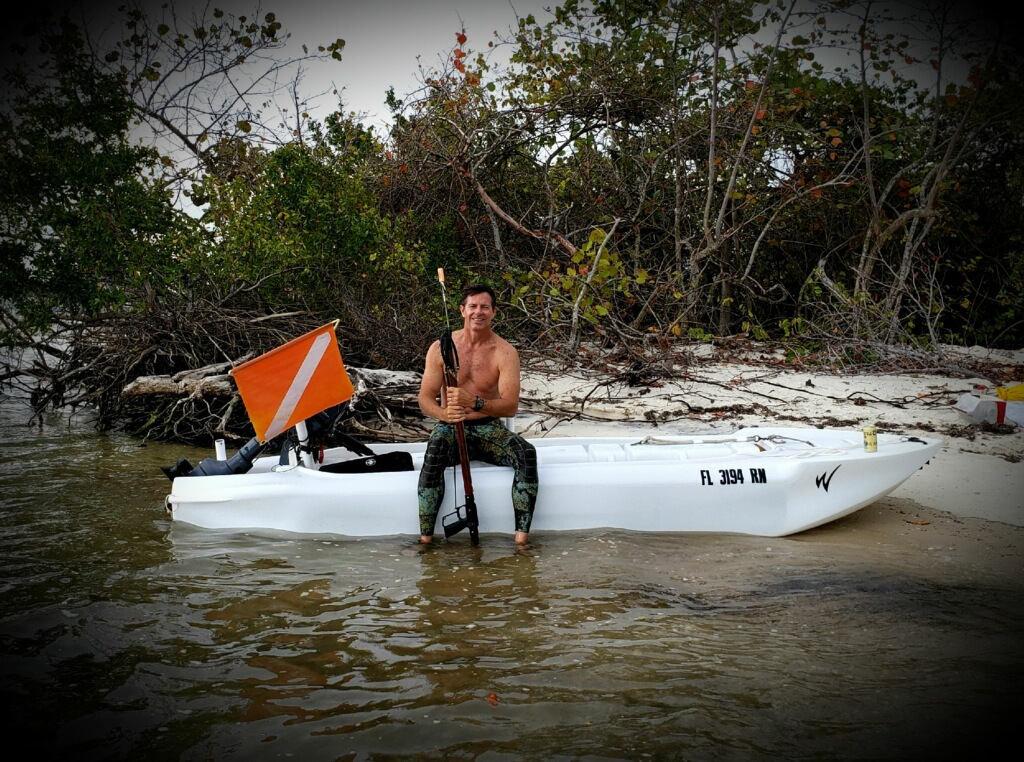 S4 skiff in offshore spear fishing trip, Florida