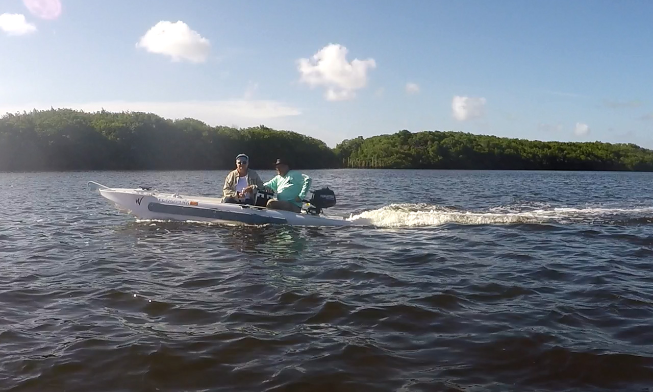 Wavewalk S4 microskiff, Florida